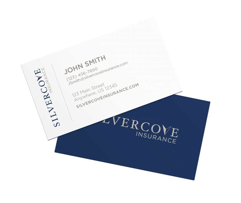 Silver Cove Business Card Mockup